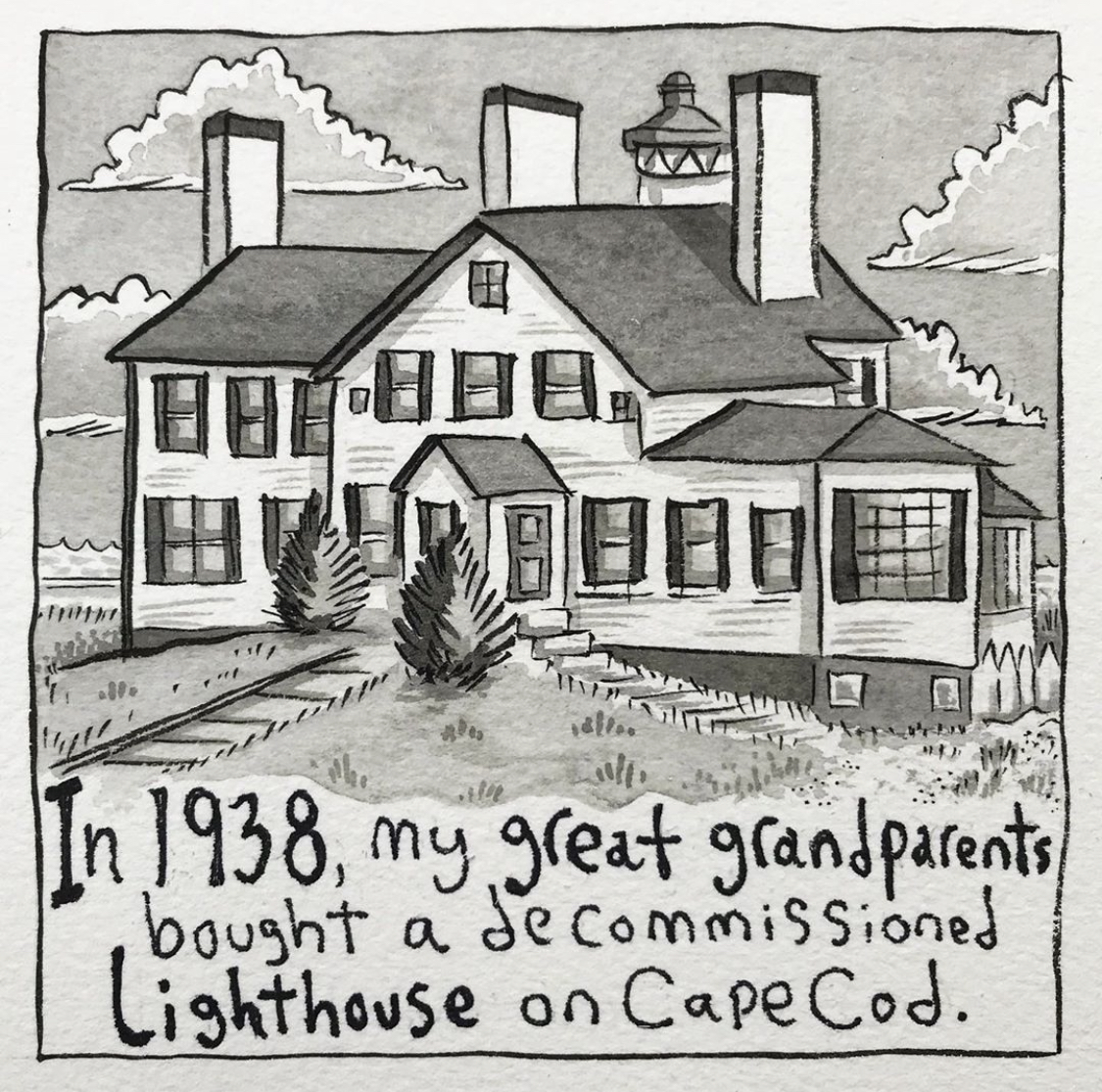 An Artist's Summer Memories at the Lighthouse Inn