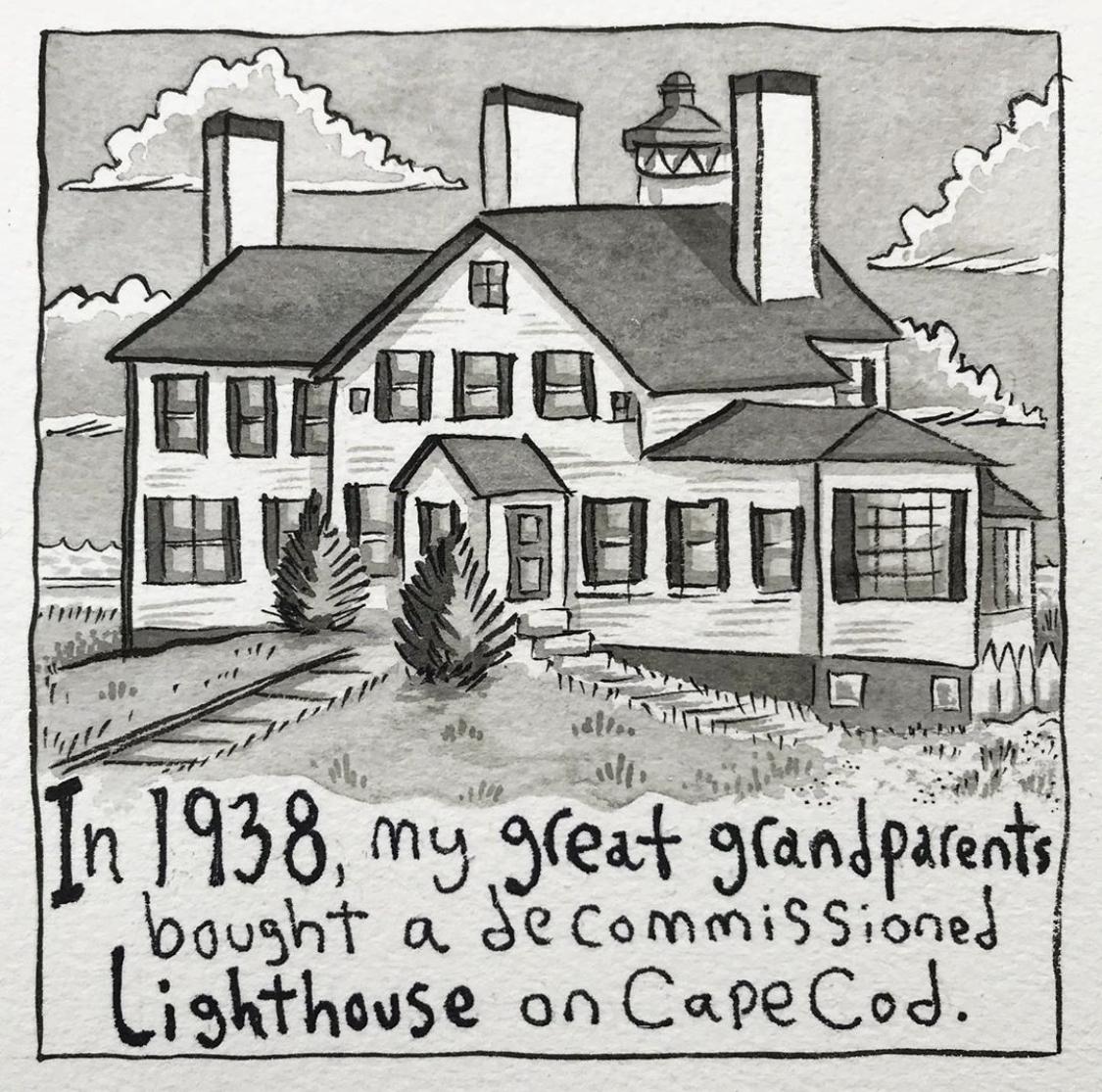 An Artist's Summer Memories at the Lighthouse Inn